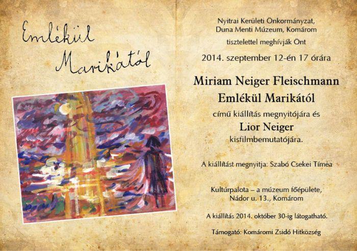 Miriam Fleischmann meghivo 1