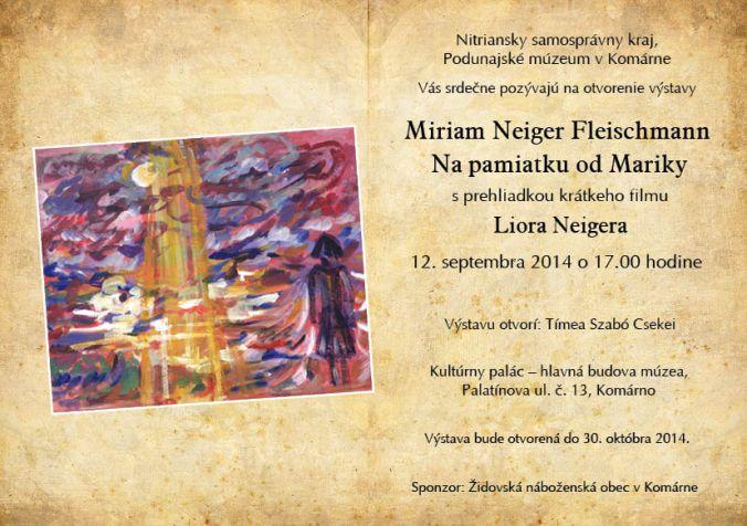 Miriam Fleischmann meghivo 2